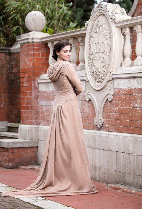 sample wedding dress for sale Mink Silk Velvet Coat Size 10-12 €350